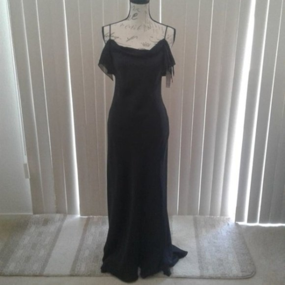 2240206db85 NWT Cachet Draped Evening Gown w Short Train Sz 4